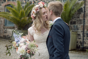 aimee + martin // floral cotswolds wedding